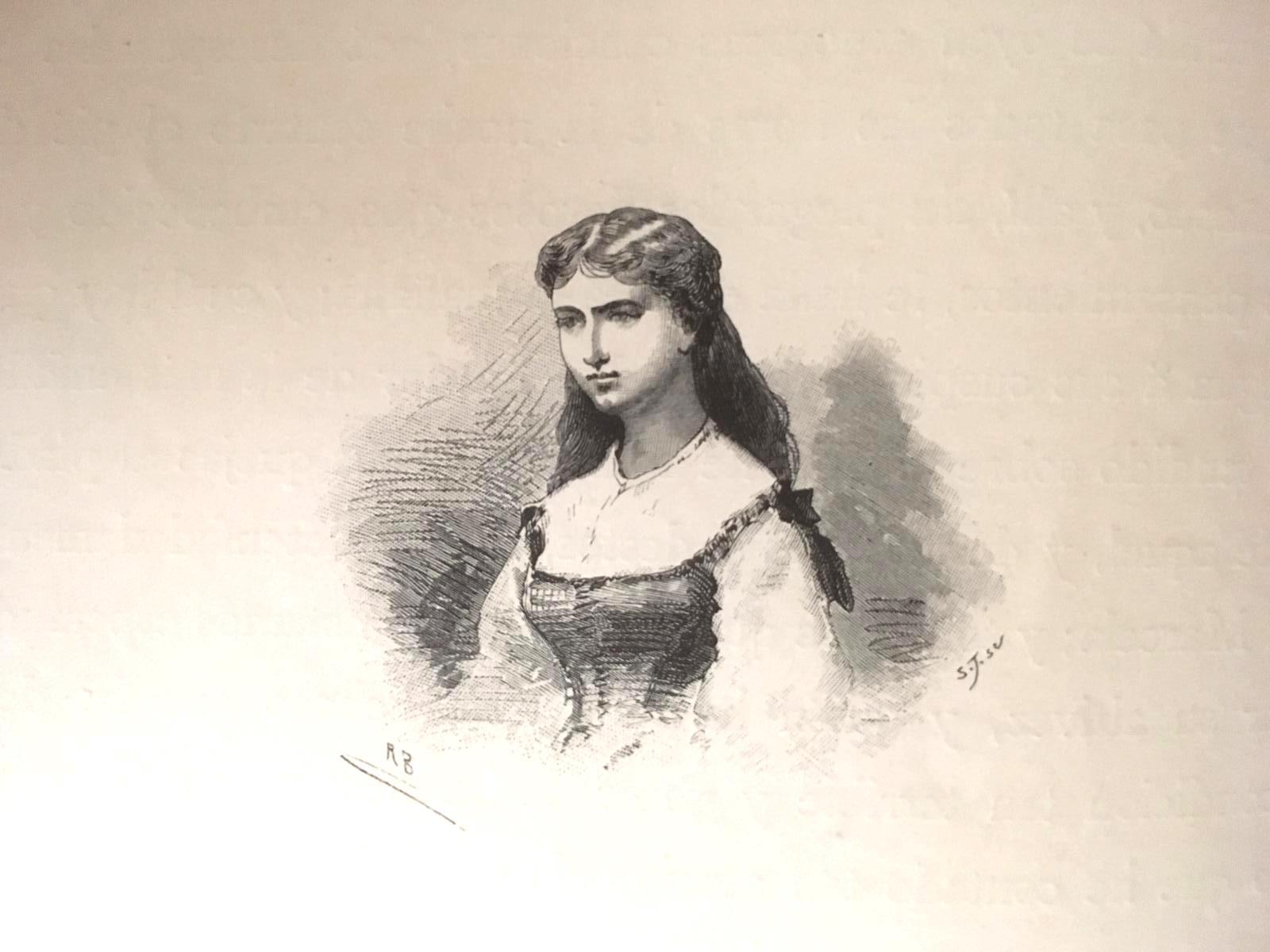 Marcela, ilustración de El Quijote de Montaner y Simón editores, 1880.